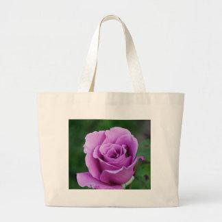 Purple Rose Canvas Bag