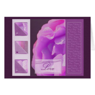 Purple Rose - card design