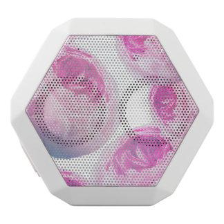 Purple Rose Collage, Floral Botanics White Bluetooth Speaker