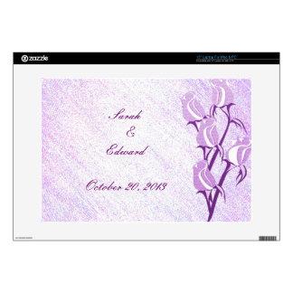 Purple Rose Couple Personalized Laptop Skins