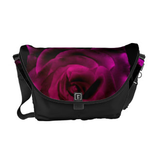 Purple Rose Courier Bag