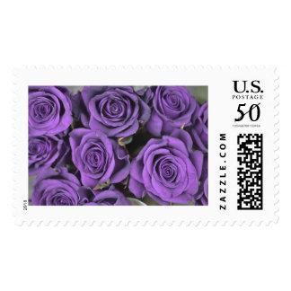Purple Rose Custom US Postage Stamp