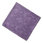 Purple Rose Damask Goth Pattern Bandana