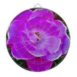 Purple Rose Dartboard With Darts