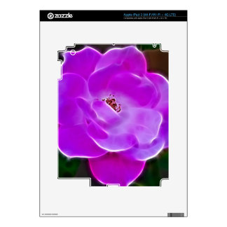 Purple Rose Decal For iPad 3