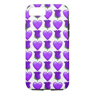 Purple Rose Emoji iPhone 7 Phone Case