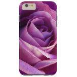 Purple Rose Feminine Girly Elegant Stylish Flower Tough iPhone 6 Plus Case