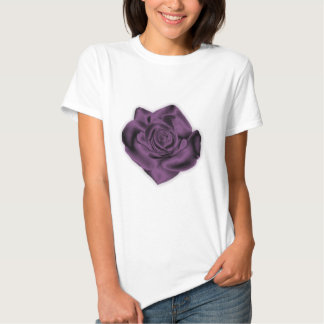 Purple Rose Fitted T-Shirt