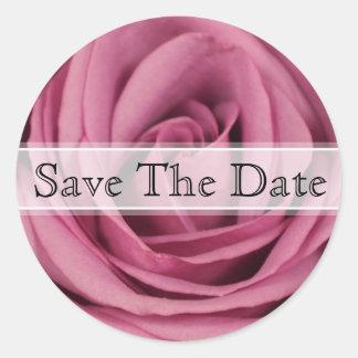 Purple Rose Floral Wedding Sticker
