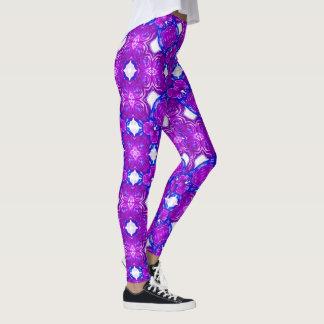 Purple Rose Geometric Leggings