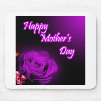 Purple Rose Happy Mother s Day design Mousepads