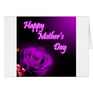 Purple Rose Happy Mother's Day design Card