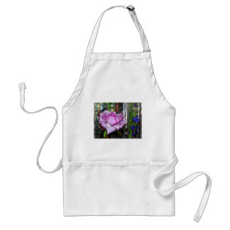 Purple Rose in a Water Filled Glass Adult Apron