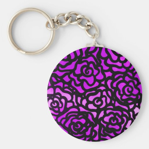 purple rose keychain