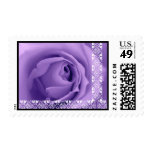PURPLE Rose Lace Wedding Stamp