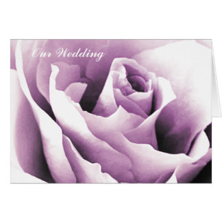 Purple Rose Note Cards Template