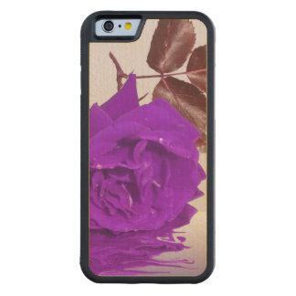 Purple Rose of Fibro Carved Maple iPhone 6 Bumper Case