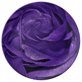 Purple Rose of Fibro Dinner Plate