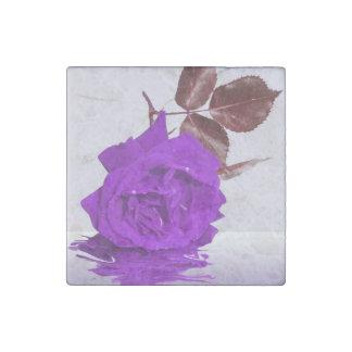 Purple Rose of Fibro Stone Magnet