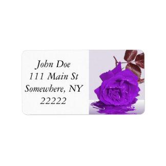 Purple Rose of Fibro Label