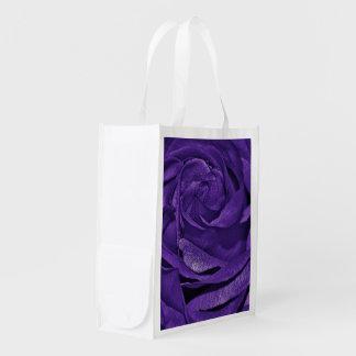 Purple Rose of Fibro Grocery Bag
