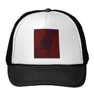 Purple Rose on Red Background Creative Art Trucker Hat