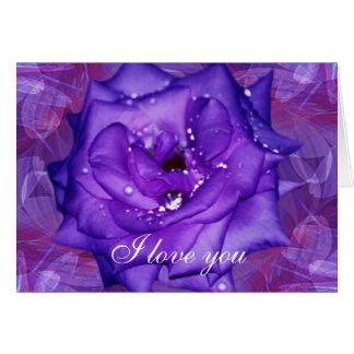 Purple Rose Passion Cards
