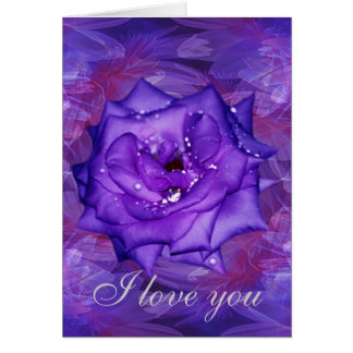 Purple Rose Passion Greeting Cards