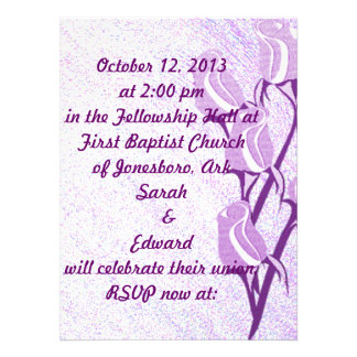 Purple Rose Personalized RSVP Event Cards