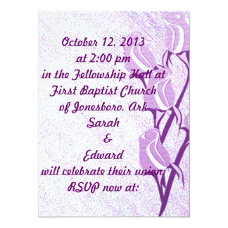 Purple Rose Personalized RSVP Event Cards Invitation