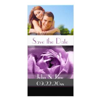 "Purple Rose  /photo  ""Save the Date"" Card"