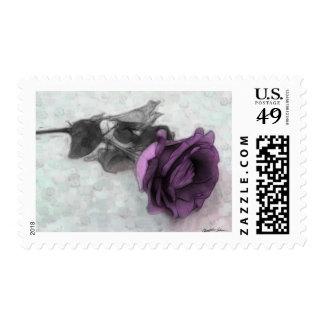 Purple Rose Postage Stamp