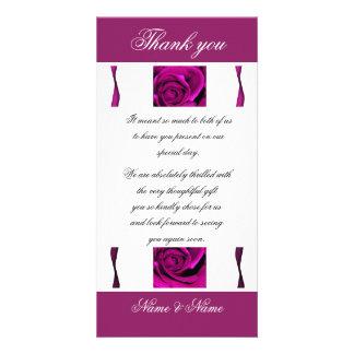 Purple rose roses elegant card