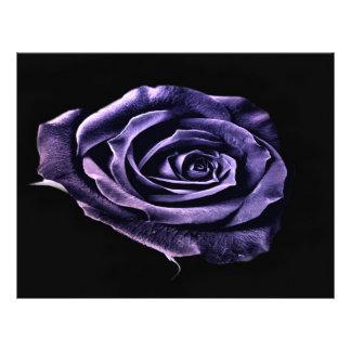 Purple rose rsvp letterhead design