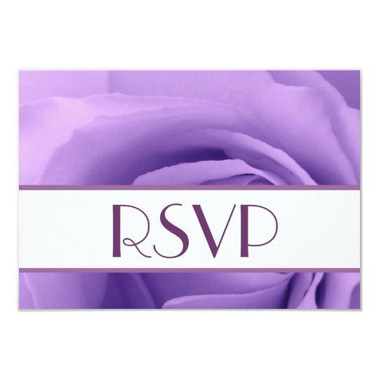 Purple Rose RSVP Wedding Response Card