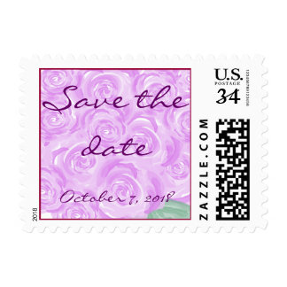 Purple Rose Save the date postate Postage