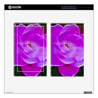 Purple Rose Kindle Fire Decals