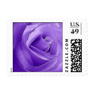 Purple Rose SMALL Postage Stamp - Version 1