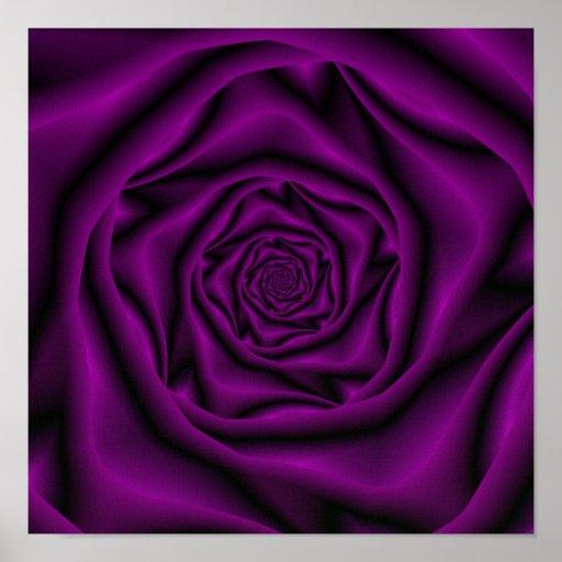 Purple Rose Spiral Poster