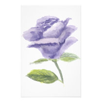 Purple Rose Stationery