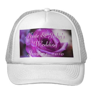 Purple Rose Trucker Hat
