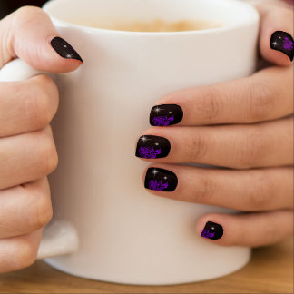 Purple Rose Vampire Goth Minx Nail Wraps