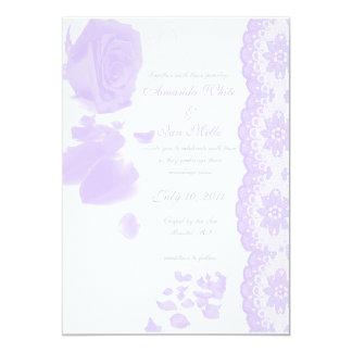 Purple Rose Wedding Invitation