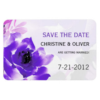 Purple Rose Wedding Magnet