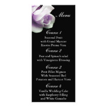 purple rose Wedding menu