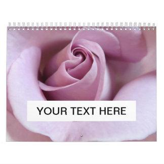Purple Rose Wedding Photo Wall Calendars