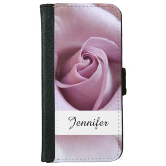 Purple Rose Wedding Photo Wallet Phone Case For iPhone 6/6s