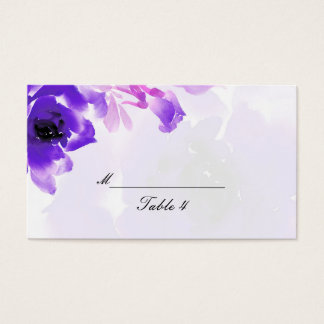 Purple Rose Wedding Place Cards