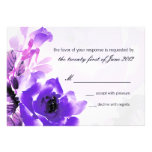 Purple Rose Wedding RSVP Response Card Personalized Announcements