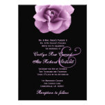 Purple Rose Wedding Template B323 Invitation